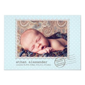 Invitación dulce de la foto del bebé de la entrega
