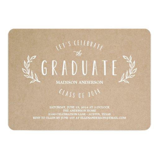 Invitación dulce de la graduación de la guirnalda
