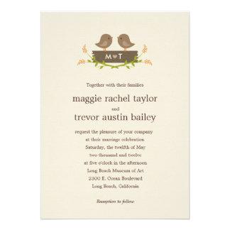 Invitación dulce del boda del amor
