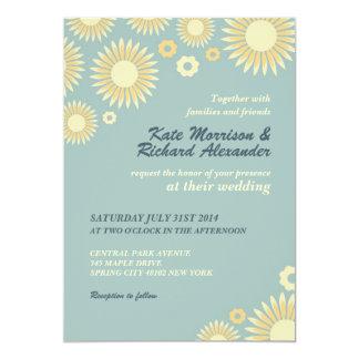 Invitación dulce del boda del girasol de los