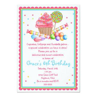 Invitación dulce del caramelo de la magdalena de invitación 12,7 x 17,8 cm