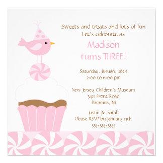 Invitación dulce del cumpleaños del chirrido de la