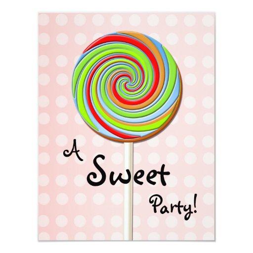 Invitación dulce del fiesta invitación 10,8 x 13,9 cm