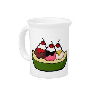 Invitación dulce del helado de la fractura de jarras de beber
