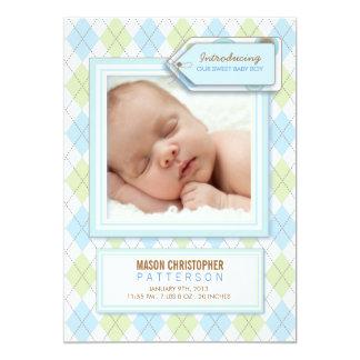 Invitación dulce del nacimiento de la foto de invitación 12,7 x 17,8 cm