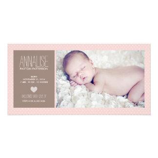 Invitación dulce del nacimiento de la niña de la f tarjeta personal