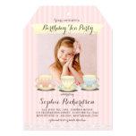 Invitación dulce elegante de la fiesta del té del