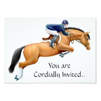 Invitación ecuestre del caballo del puente de la