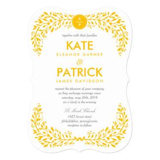 Invitación EDITABLE del boda del COLOR del laurel