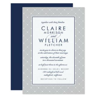 Invitación el   del boda del punto del diamante