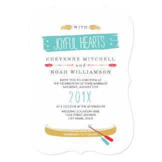 Invitación el   moderna temática nativa del boda invitación 12,7 x 17,8 cm