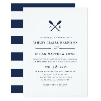 Invitación el   náutica marítima del boda del