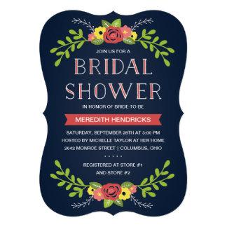 Invitación el nupcial floral bonita de la ducha
