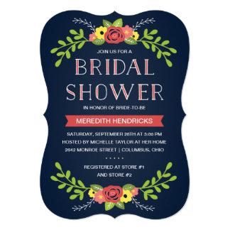 Invitación el | nupcial floral bonita de la ducha