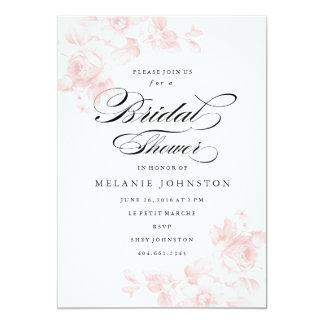 Invitación el | nupcial floral de la ducha del
