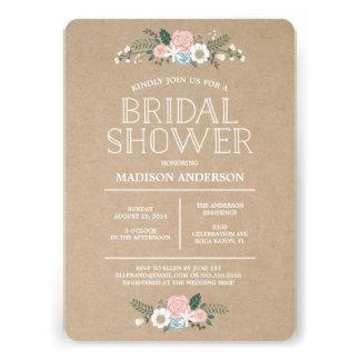 Invitación el nupcial floral dulce de la ducha