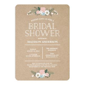 Invitación el   nupcial floral dulce de la ducha invitación 12,7 x 17,8 cm