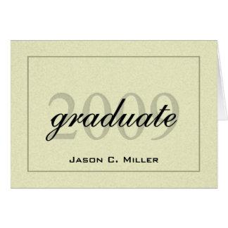 Invitación elegante 2009 de la graduación tarjeton