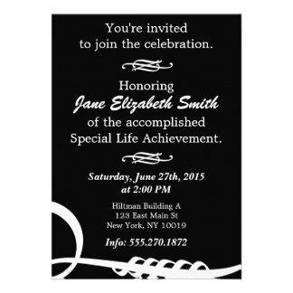 Invitación elegante básica de B&W