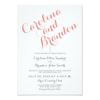 Invitación elegante clásica del boda de la