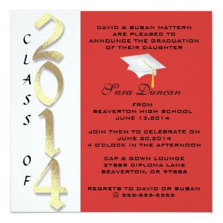 Invitación elegante clásica linda 2014 de la