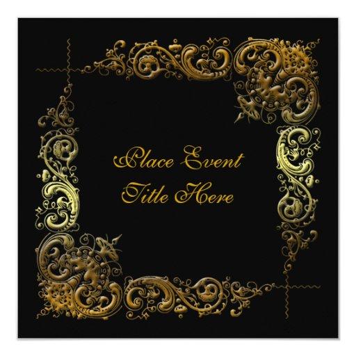 Invitación elegante de encargo del fiesta