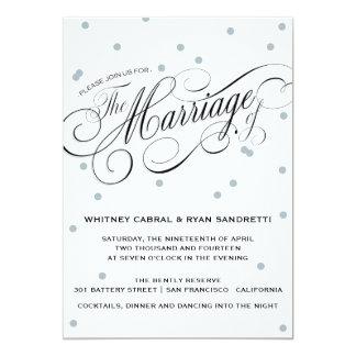 Invitación elegante de la bodas de plata del punto invitación 12,7 x 17,8 cm