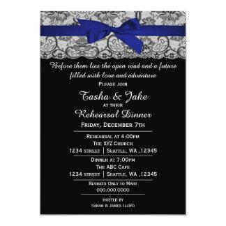 Invitación elegante de la cena del ensayo del