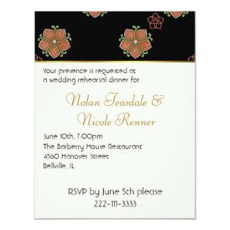 Invitación elegante de la cena del ensayo del boda