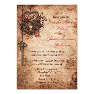 Invitación elegante de la cerradura y del boda de