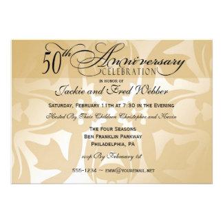 Invitación elegante de la fiesta de aniversario de