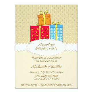 Invitación elegante de la fiesta de cumpleaños