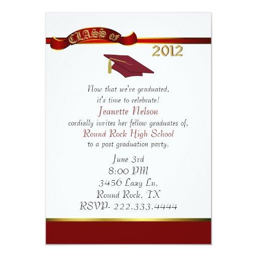 Invitación elegante de la fiesta de graduación del