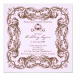 Invitación elegante de la fiesta de la princesa