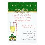 Invitación elegante de la fiesta de Navidad Invitación 12,7 X 17,8 Cm