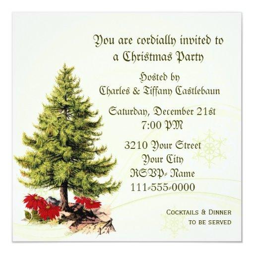 Invitación elegante de la fiesta de Navidad de la