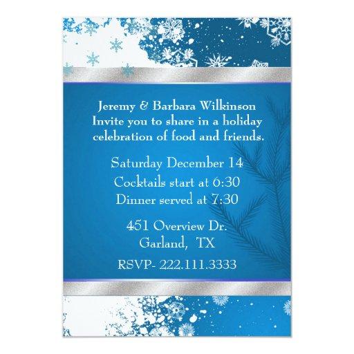 Invitación elegante de la fiesta de Navidad de los