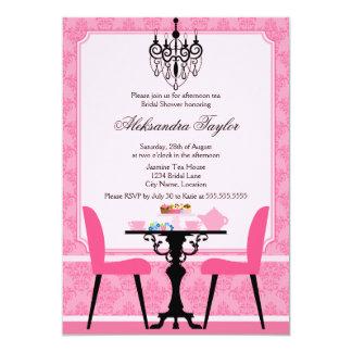 Invitación elegante de la fiesta del té del