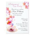 Invitación elegante de la fiesta del té del retiro invitación 12,7 x 17,8 cm