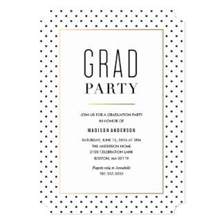 Invitación elegante de la graduación de la ciudad