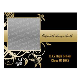 invitación elegante de la graduación de la foto postales