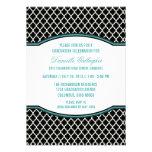 Invitación elegante de la graduación de Quatrefoil