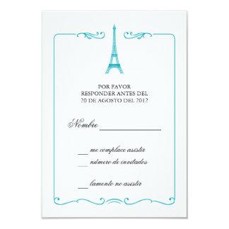Invitación elegante de la tarjeta de RSVP de la Invitación 8,9 X 12,7 Cm