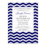 Invitación elegante de los azules marinos de la fi