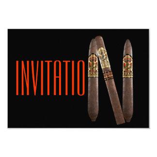 Invitación elegante de lujo de los cigarros de