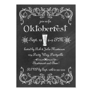 Invitación elegante de Oktoberfest de la pizarra
