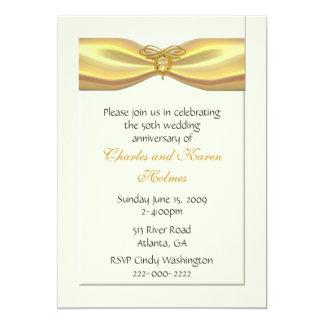 Invitación elegante del aniversario de boda