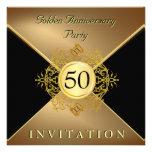 Invitación elegante del aniversario del lazo negro