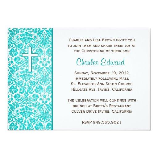 Invitación elegante del bautismo