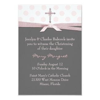 Invitación elegante del bautizo de la niña